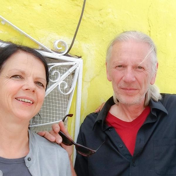 Cora Van & Charlie Tomorrow, peintres. Real de Catorce, Mexique