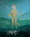 Flor de Palma / Fleur de palme. 1999. Peinture huile et tempera sur chassis. 100x125cm