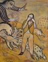Der Alptraum / Le cauchemar. 2008. Dessin gouache et encre de chine sur papier Kraft. 70x90cm