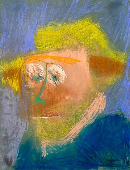 D'après un autoportrait de Van Gogh. Raphaël S. 75x50cm Pastel sur papier