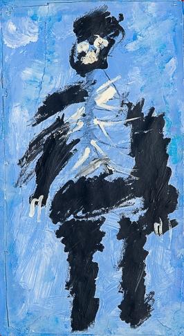 Un zombie. Adam A. 80x30cm. Acrylique sur papier