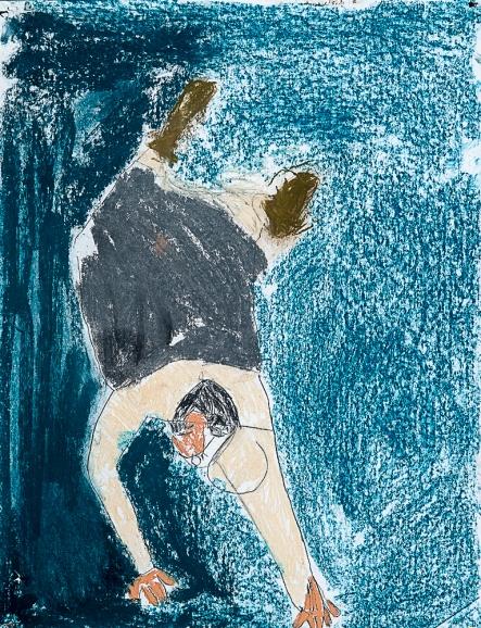 Cauchemar. Raphaël S. 75x50cm. Pastel sur papier