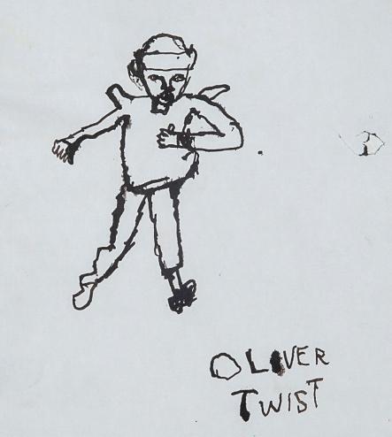 Oliver Twist. Grégori A. 21x24cm dessin papier encre