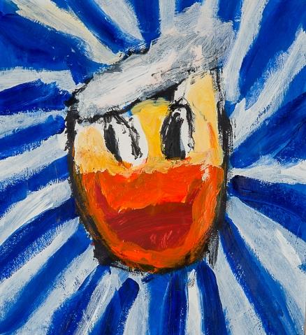 Donald. Adam A. 63x69cm. Acrylique sur  papier